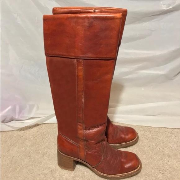 3610e8092d99e Vintage Frye Black Label 8500 Campus Leather Boots